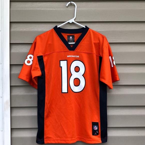 pretty nice aac9a 2d7ec NFL boy's orange&navy Denver Broncos jersey